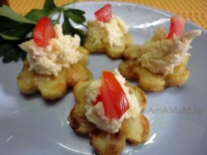 Вкусная домашняя еда: жареные кабачки-цветочки (рецепт и фото)