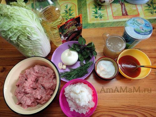 Состав голубцов с пекинской капустой - рецепт и пошаговые фото приготовления