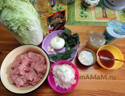 Приготовление мясных шариков с капустой - рецепт ленивых голубцов