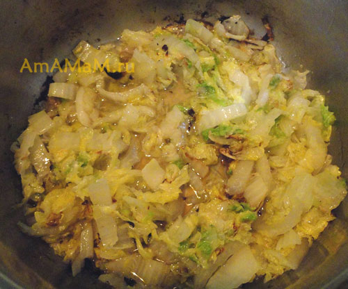 Жарка пекинской капусты для ленивых голубцов - рецепт в картинках