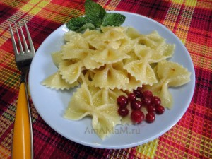 Как готовят макароны с сахаром: рецепт с фото