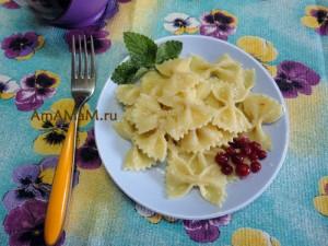 Простые детские рецепты: макароны с сахаром