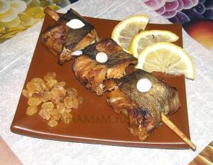 Треска на шпажках - вкусный и простой рецепт шашлыка из рыбы в домашних условиях (в духовке)