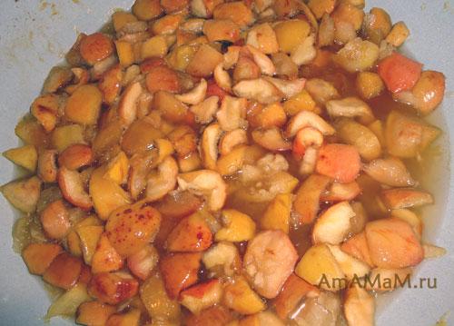 Как готовить варенье из яблок - 2 варианта приготовления, разные пропорции, добавки (апельсины и лимоны)