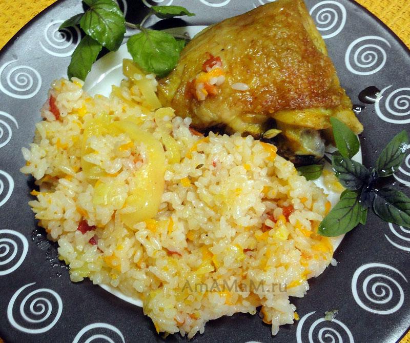 Курица с рисом - вкусный рецепт простого ужина!