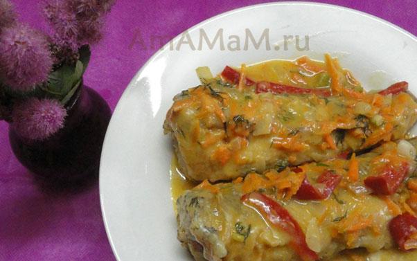 Нототения с овощами - простой рецепт тушеной рыбы