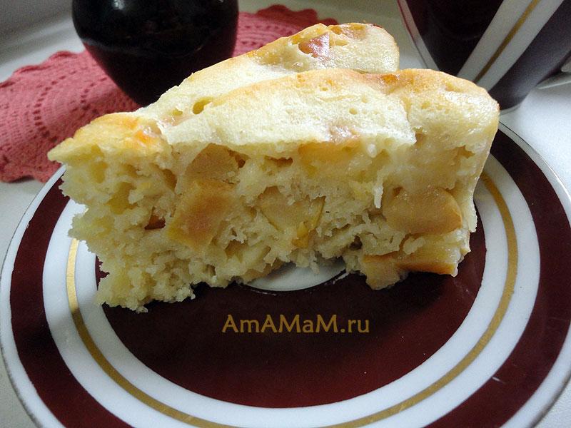 Как нарезать яблоки в яблочный пирог - рецепт