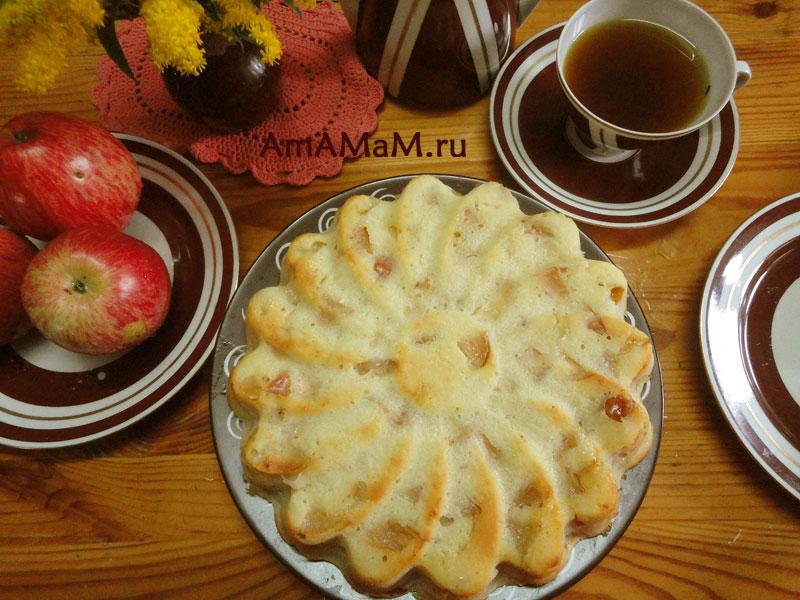 Как испечь яблочный пирог на кефире- рецепт