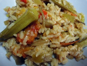 Вкусное блюдо из риса с Гювечем (пакет замороженных овозей) - как готовить