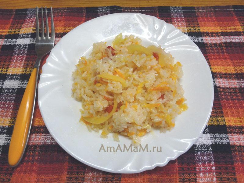 Как приготовить рис в сковороде - рецепт и фото