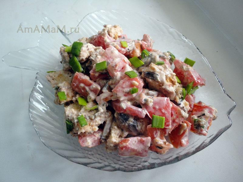 Салат из шпрот рецепт с фото
