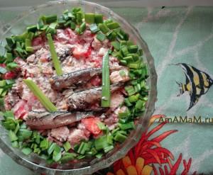 Рецепт салата со шпротами и помидорами - простая и вкусная еда!
