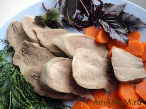 Приготовление свиного языка - рецепт и фото