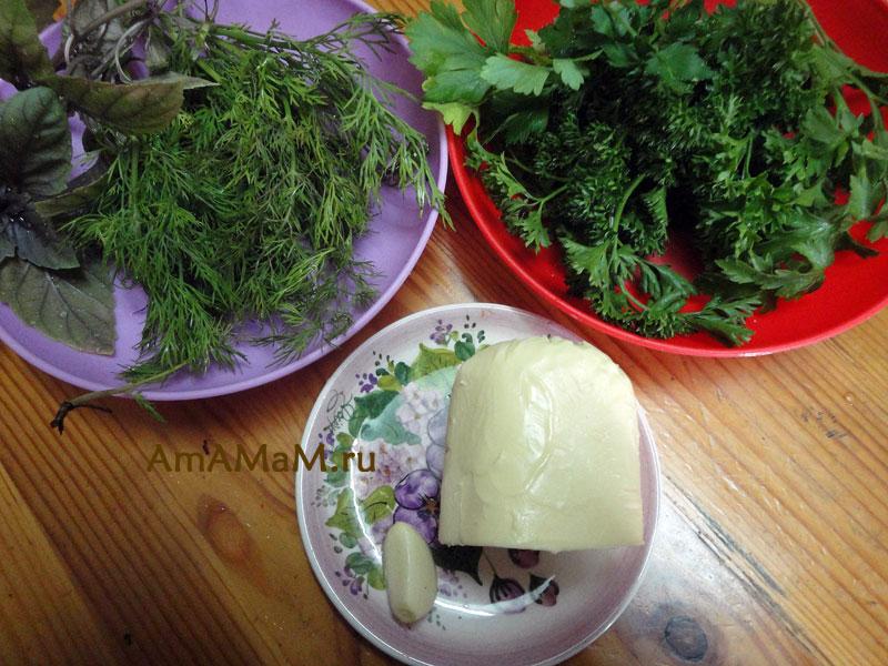 Как готовят зеленое масло - рецепт