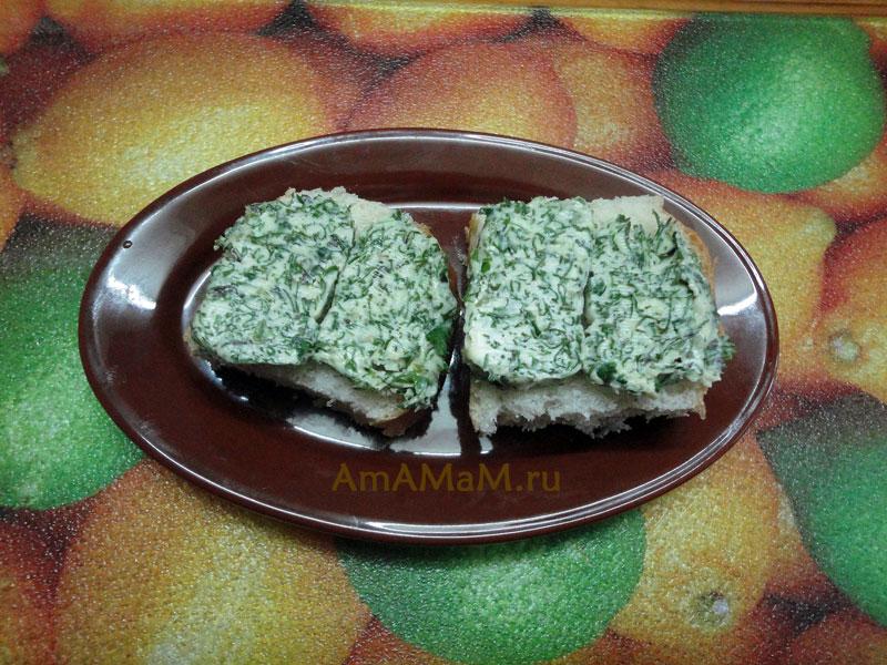 Интересные рецепты бутербродов с зеленым маслом