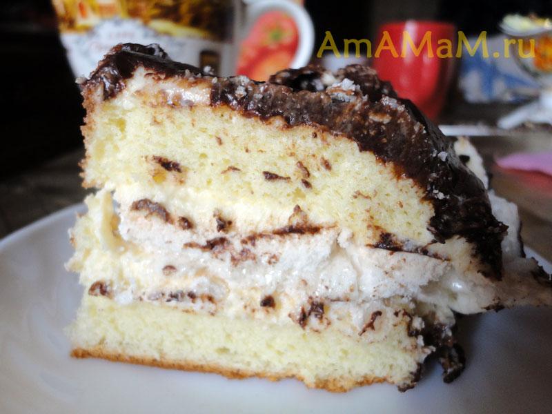 Вкусный домашний торт — бисквитный с
