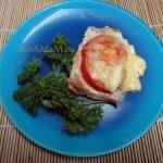 Горбуша запеченная с помидорами, сыром и майонезом