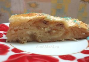 Рецепт пирожка в форме Змеи с пошаговыми фото
