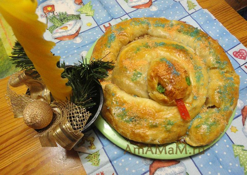 Интересные рецепты к Новому году - пирог Змея.