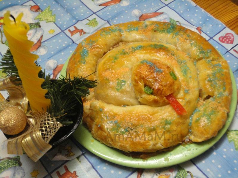 Как сделать пирог в форме змеи - рецепты на Новый год