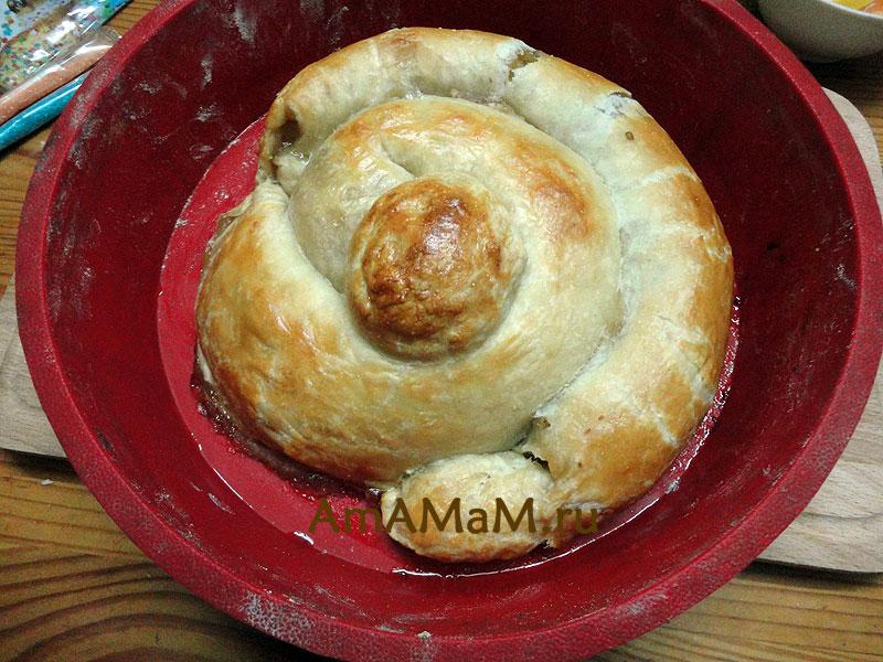 Пирог Змея МК с пошаговыми фото