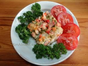 Что приготовить из риса, бекона и овощей