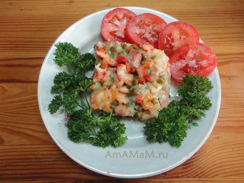 Что приготовить на ужин для любимого мужа из риса и грудинки - рецепт запеканки!
