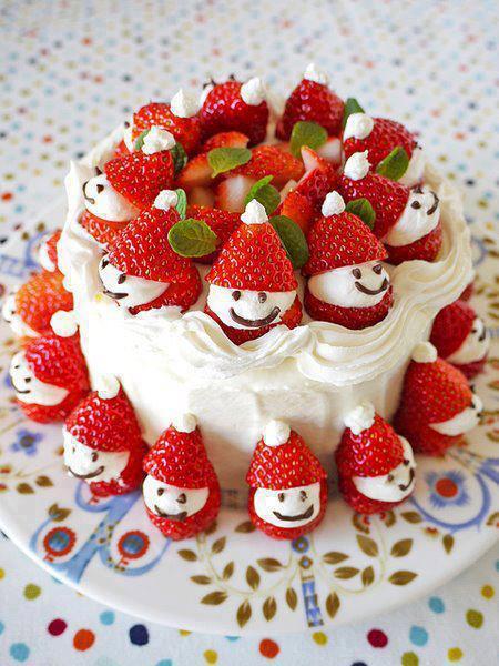 Как украсить новогодний торт - фото