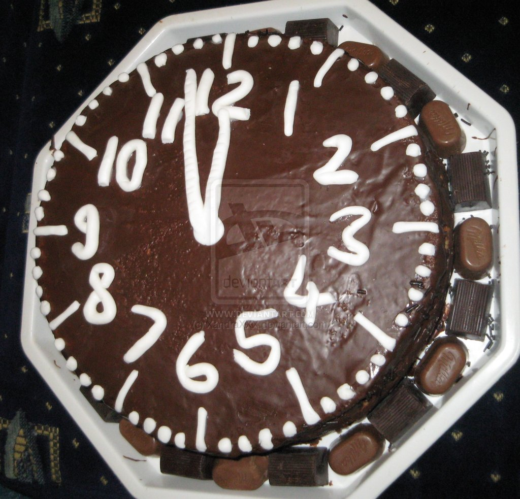 Как нарисовать новогодний сюжет на торте - фото