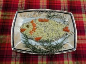 Рыбка из форшмака -простой рецепт