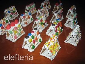 Что можно сделать из простого печенья - Новогодний домик