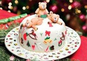 Детский торт с мишками под мастикой - фото