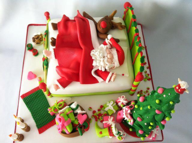 Идеи украшения новогоднего торта мастикой с фото