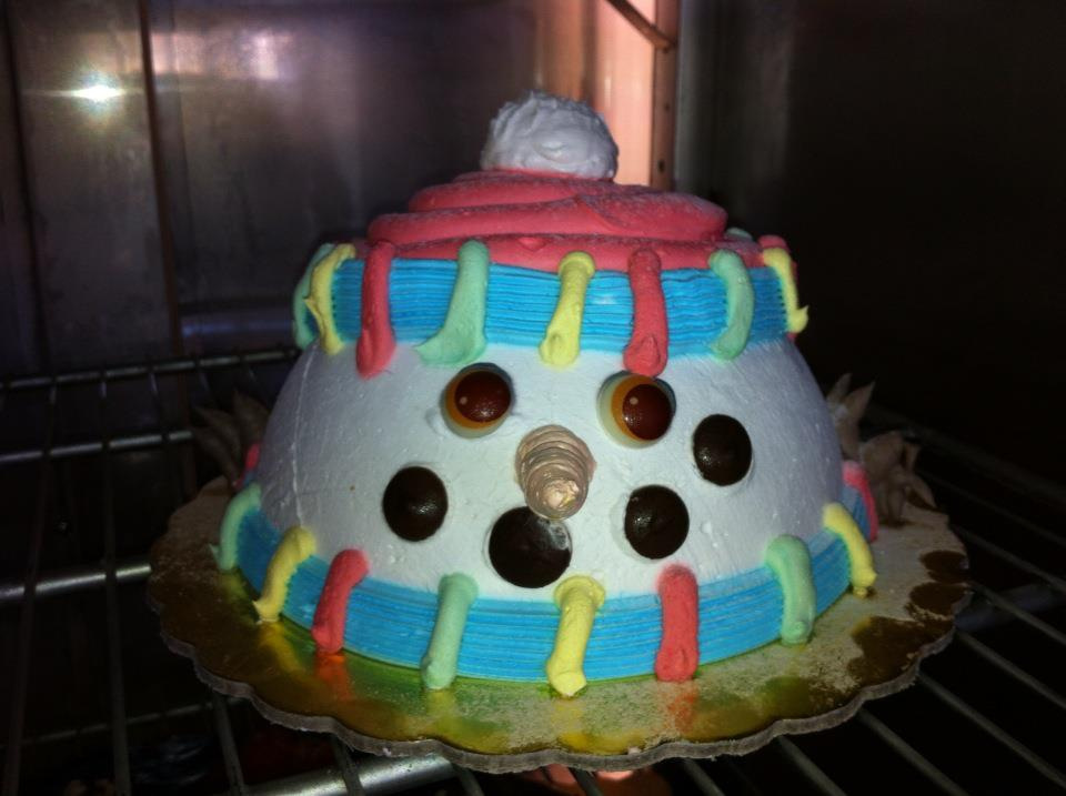 Торты в форме снеговика, варианты