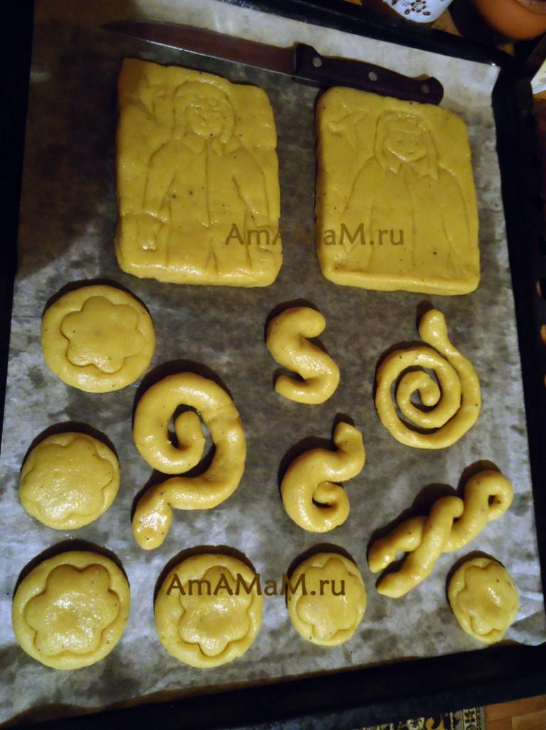 Рецепт имбирного печенья в виде змеи на Новый год 2013