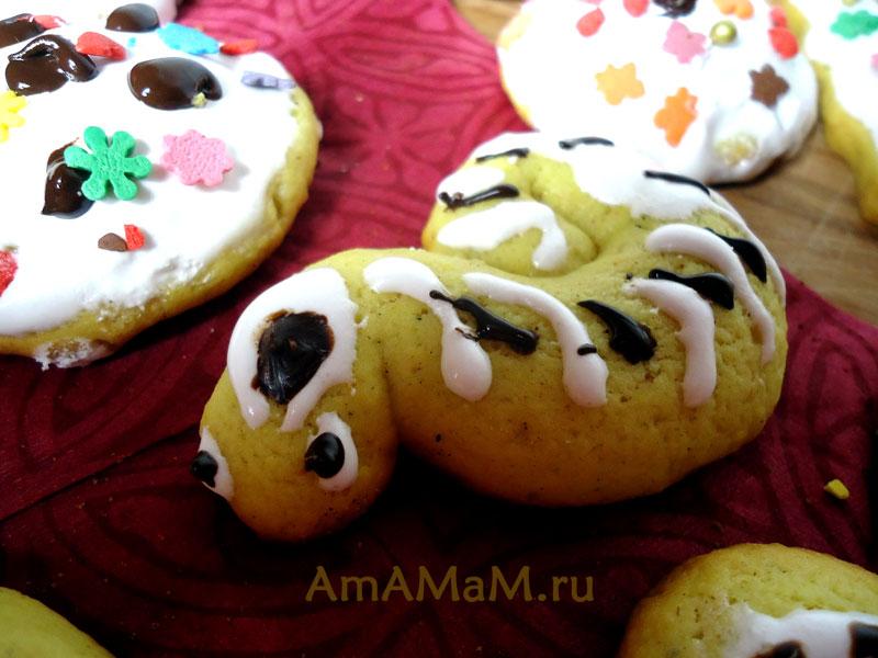 Как приготовить печенье змейки