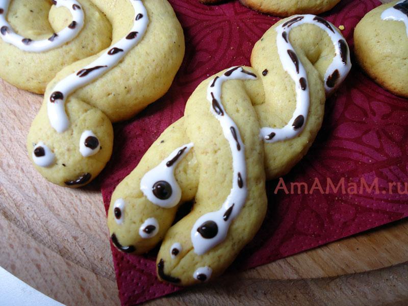 Как делают печенье в виде змей - рецепт и фото