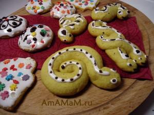 фото имбирного печенья в виде змеи