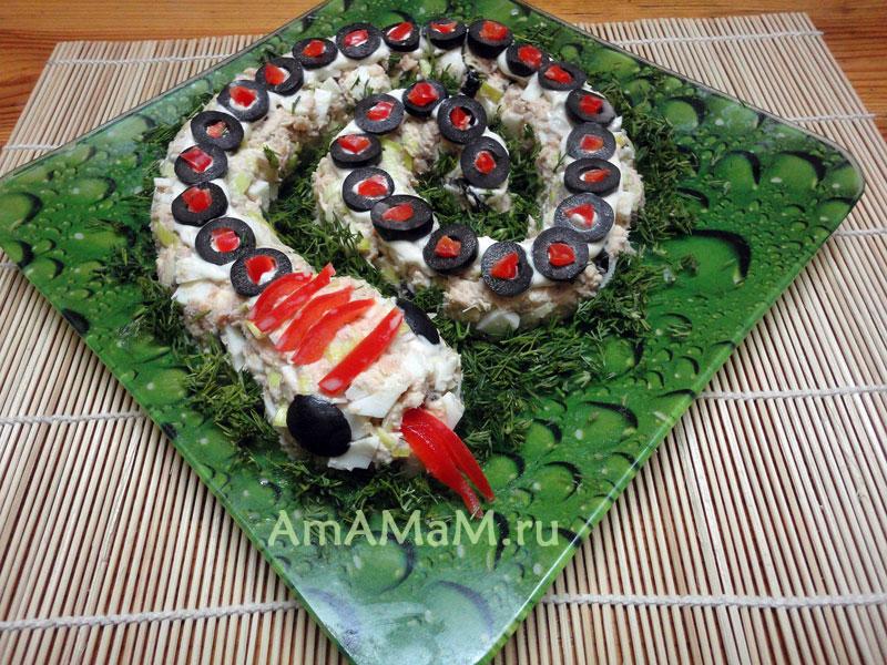 Рецепт салата из рыбных консервов и фото