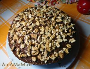 Шоколадный торт с простым кремом - легкий рецепт домашнего торта с фото