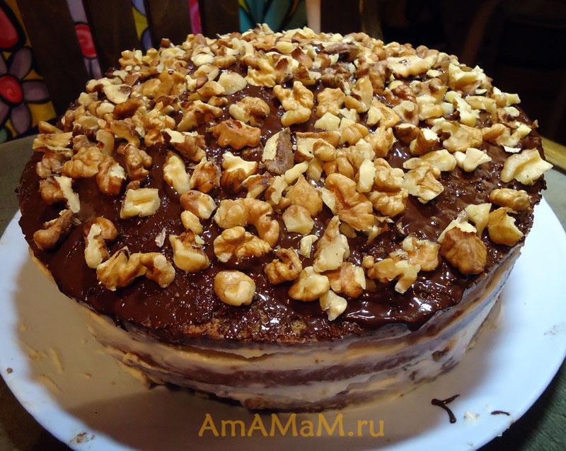 Как делают шоколадный торт - простой рецепт с фото