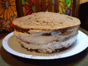 Торт с шоколадом и какао - рецепт с фото