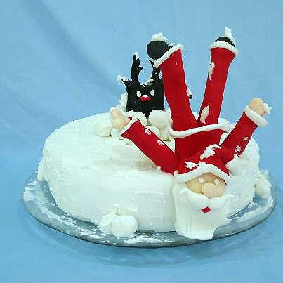Дед Мороз и олень - смешные сюжеты для детских тортов на Новый год!