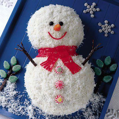 Торт Снеговик - красивое новогоднее фото