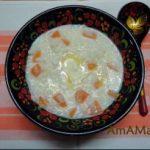 Каша рисовая молочная с тыквой