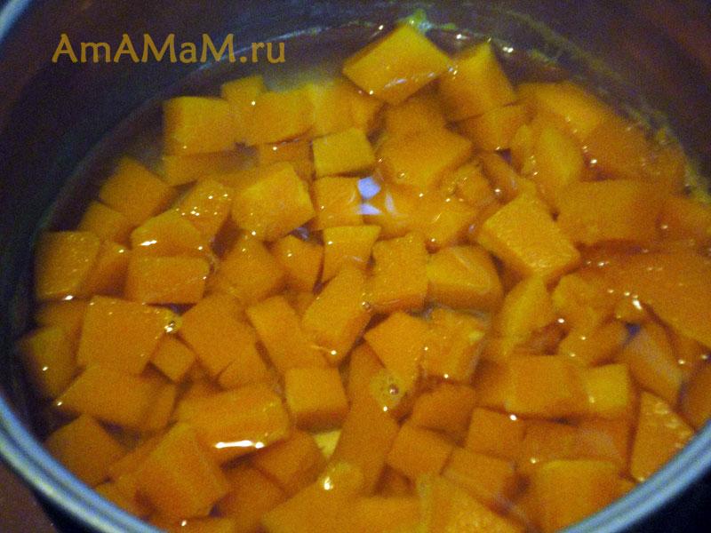 Приготовление тыквенной молочной рисовой каши - рецепт с фото