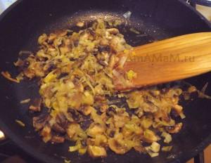 Грибной фарш из шампиньонов - начинка для омлета