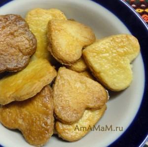 Как выглядит печенье, смазанное белком