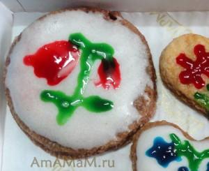 Фото печенья с глазурью - простой и вкусный рецепт