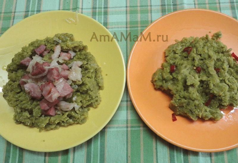 Как готовить гороховое пюре-  рецепт